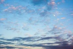1 предпосылка заволакивает пасмурное небо Стоковое Изображение RF