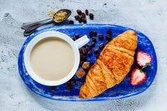 Предпосылка завтрака установленная Стоковые Изображения RF