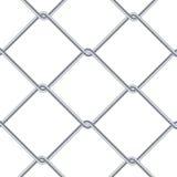 Предпосылка загородки звена цепи Промышленные обои стиля Реалистическая геометрическая текстура Стена стального провода изолирова бесплатная иллюстрация