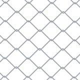 Предпосылка загородки звена цепи Промышленные обои стиля Реалистическая геометрическая текстура Стена стального провода изолирова иллюстрация вектора