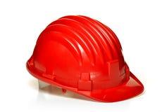 предпосылка закрепляя белизну путя трудного шлема изолированную Стоковая Фотография RF
