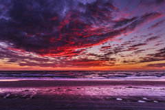 Предпосылка захода солнца ландшафта HDR Стоковое Фото