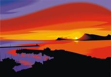 Предпосылка захода солнца Стоковые Фотографии RF