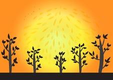 Предпосылка захода солнца Иллюстрация вектора
