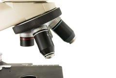 предпосылка за голубым микроскопом градиента крупного плана Стоковое фото RF