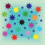 Предпосылка: Звезды Стоковые Изображения RF