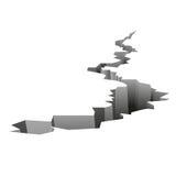 Предпосылка землетрясения обанкротившийся Стоковая Фотография