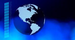 Предпосылка земли планеты синяя Стоковая Фотография