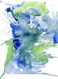 Предпосылка зеленая и голубая на белой бумаге Стоковые Изображения RF