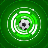 Предпосылка зеленого цвета кибер футбола футбола Стоковые Фото