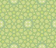 Предпосылка зеленого цвета орнамента звезды арабескы иллюстрация вектора