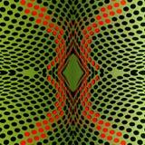 Предпосылка зеленого цвета Fraktal с точками Иллюстрация вектора