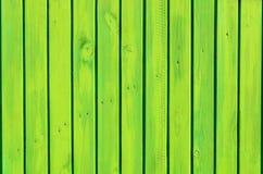 Предпосылка зеленой деревянной загородки Стоковая Фотография