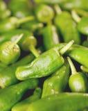 Предпосылка зеленых перцев - текстура зеленого перца, chili Стоковые Фотографии RF