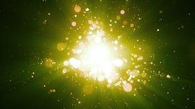 Предпосылка зеленых частиц абстрактная Стоковая Фотография