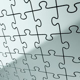Предпосылка зигзага головоломки сделанная глянцеватых частей металла Стоковые Фотографии RF