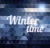 Предпосылка зимнего времени геометрическая Стоковое Фото