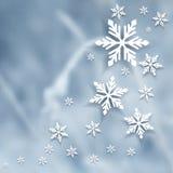 Предпосылка зимы вектора расплывчатая Стоковое Изображение