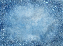 Предпосылка зимы голубая с снежинками Стоковое Изображение RF