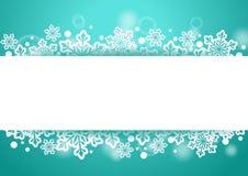 Предпосылка зимы красивая с хлопьями снега и белый космос для слов Стоковое Изображение RF