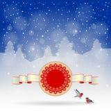 Предпосылка зимы праздничная Стоковые Изображения