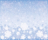 Предпосылка зимы рождества морозная Стоковое фото RF