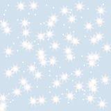 Предпосылка зимы снежинок Стоковое фото RF