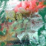 Предпосылка зимы сосны Стоковое Изображение RF
