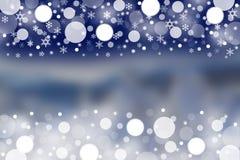 Предпосылка зимы с запачканными картинами Стоковые Фотографии RF
