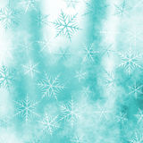 предпосылка зимы с мотивом снежинки Стоковые Фотографии RF