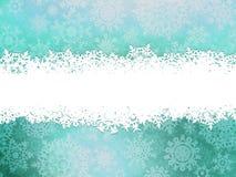 Предпосылка зимы с снежинками. EPS 10 Стоковое Изображение