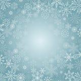 Предпосылка зимы с снежинкой, Стоковое Изображение RF