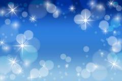 Предпосылка зимы с bokeh Рождество Frost Торжество Стоковое Изображение RF