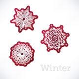 Предпосылка зимы с origami снежинок Стоковая Фотография RF