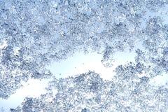 Предпосылка зимы, текстура падений льда, который замерли дождь и снег дальше Стоковое Изображение RF