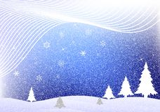 Предпосылка зимы иллюстрация вектора