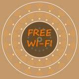 Предпосылка знака Wi-Fi года сбора винограда свободная Стоковые Фото