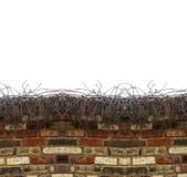 Предпосылка знамени кирпичной стены Стоковая Фотография