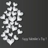 Предпосылка знамени сердца картины влюбленности. иллюстрация штока