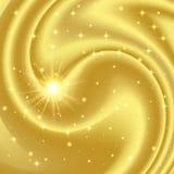 Предпосылка золота абстрактная с звездами и частицами Стоковая Фотография