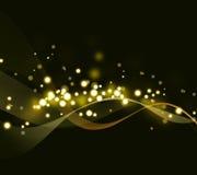 Предпосылка золота абстрактная Стоковое Фото