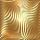 Предпосылка золота металла вектора абстрактная с зигзагом Стоковое Фото