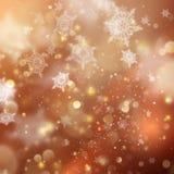 Предпосылка золотого праздника рождества накаляя Вектор EPS 10 Стоковое Изображение