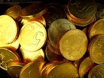 Предпосылка золотых монеток Стоковое фото RF