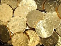 Предпосылка золотых монеток Стоковые Изображения RF