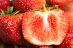 Предпосылка зрелых красных клубник Стоковая Фотография RF