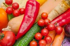 предпосылка зрелых овощей и трав Стоковое фото RF