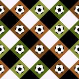 Предпосылка диаманта шахматной доски Брайна зеленого цвета шарика футбола иллюстрация вектора