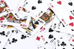 Предпосылка играя карточки Стоковое Фото