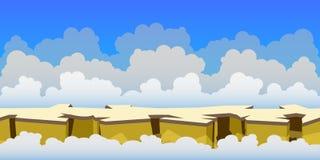 Предпосылка игры неба иллюстрация штока